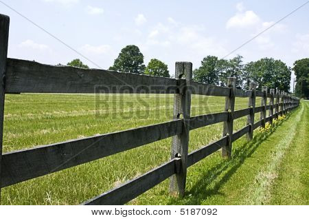 Long Split-Rail Fence