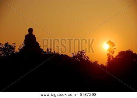Buddha At Sunset, Po Lin, Hongkong