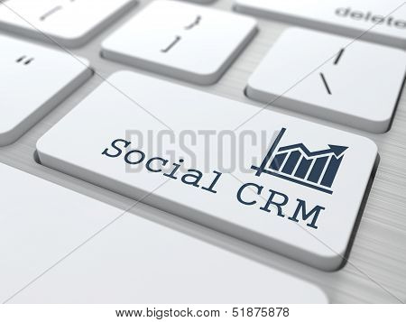Keyboard with Social CRM Button.