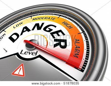 Danger Level Conceptual Meter