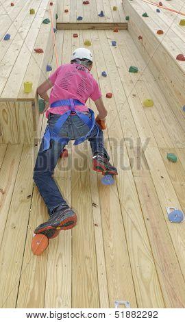 Hiram House Camp. Team Building Program. Climbing Wall Element. poster