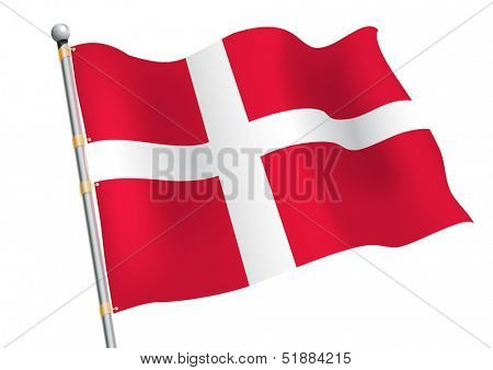 Dannebrog - Denmark civil and state flag