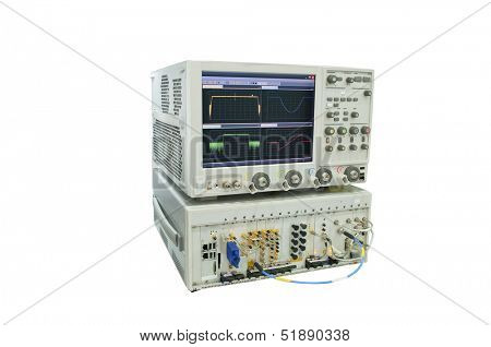 the image of an oscilloscope
