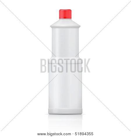 White plastic bottle for bleach.