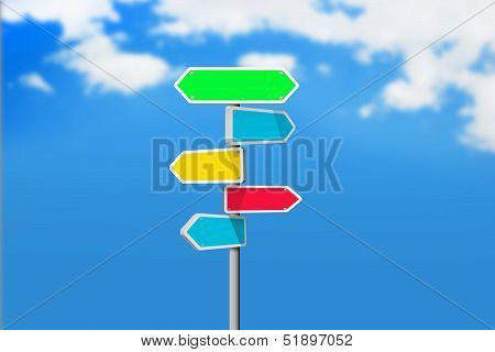Colorful Sign board