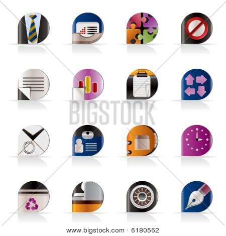 Realistic Business and Office Icons