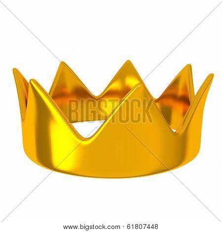 Golden crown, 3d