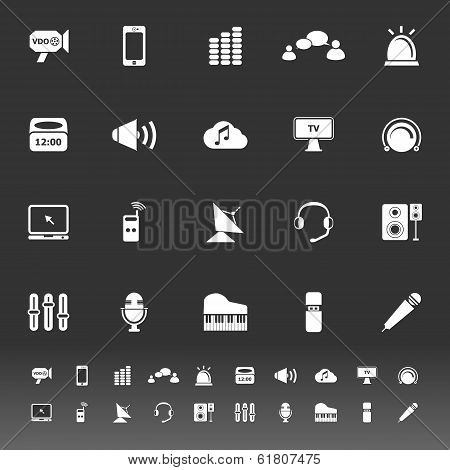 Sound Icons On Gray Background