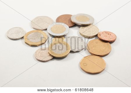 A Pile Of Random Coins From All Over The World