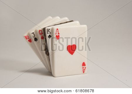Ceramic Playing Cards Lock Box With Ace Front