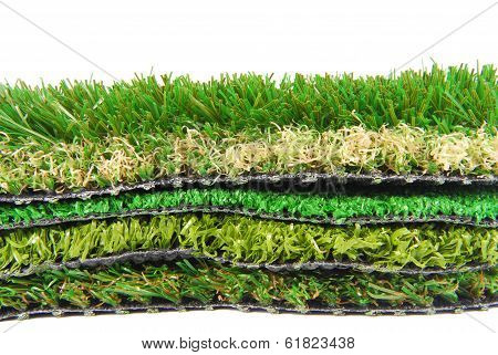 artificial grass astroturf selection isolated on white poster
