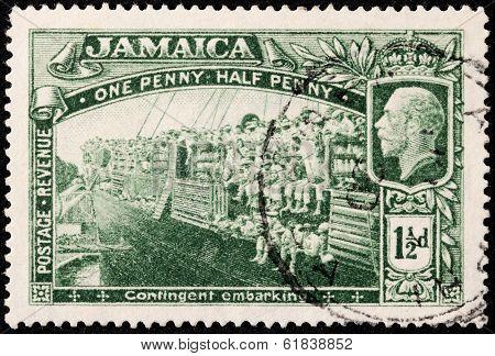Jamaica World War I Stamp