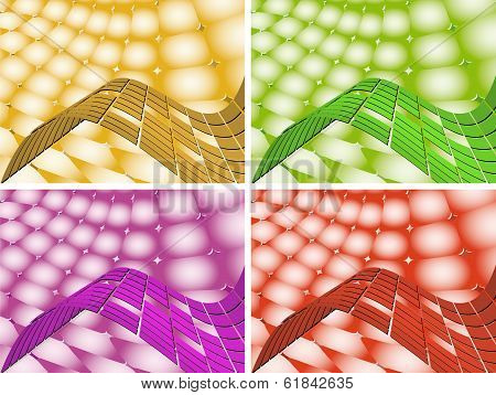 Backgrounds In A Colorful Performance