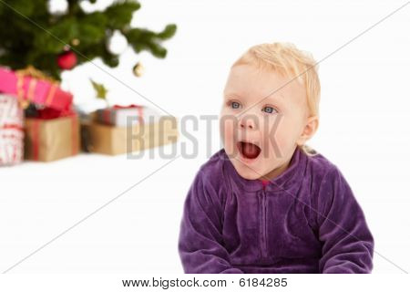 Surprise - Cute Child At Christmas Time