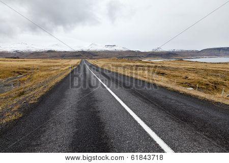 Road At Snaefellsnes Peninsula.
