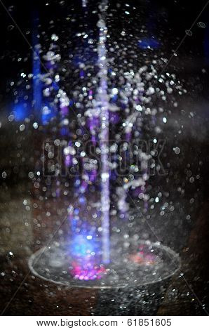 Abstract blurred bokeh from water drops.