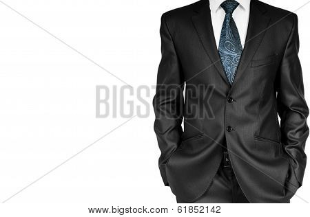 Business Man In Suit On A White Background.