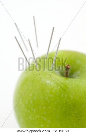 Acupuncture Needles In Apple