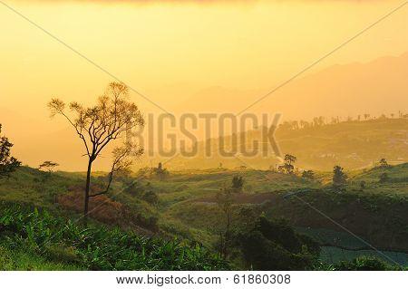 Sunrise From View Point Of Phutabberk