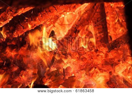 Flaring Heat Fire And Coals