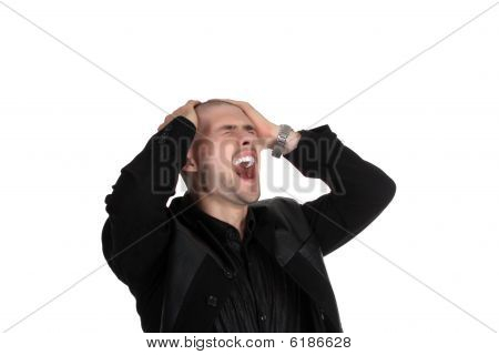 Businessman Seized His Head