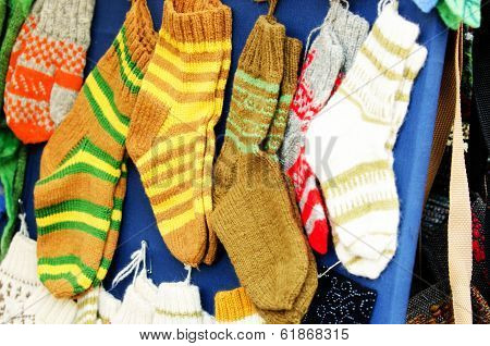 Traditional woollen sox