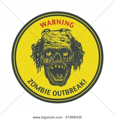 Poster Zombie Outbreak. Vector illustration. Eps8