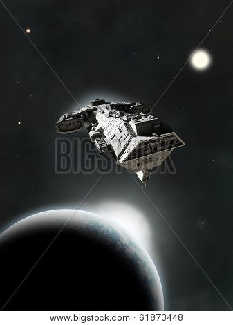 In System - Science Fiction Battle Cruiser