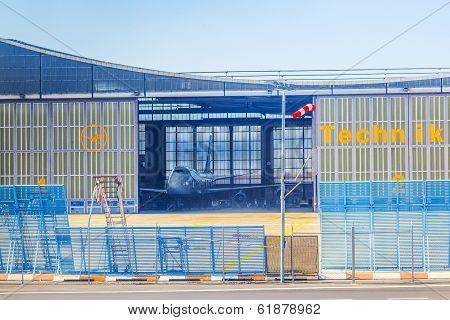 The Huge Maintenance Hangar At Lh's Home Base