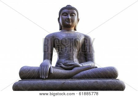 Buddha Statue Isolated On White.