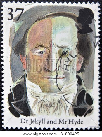 UNITED KINGDOM - CIRCA 1997: A stamp printed in Great Britain shows Doctor Jekyll and Mister Hyde