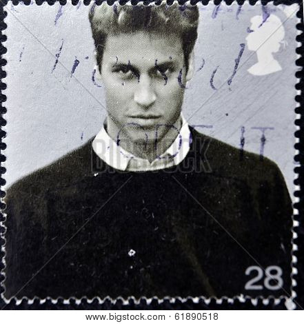 UNITED KINGDOM - CIRCA 2003: A stamp printed in Great Britain shows Prince William of Wales