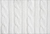 Beautiful white wool hand knit patterns . poster