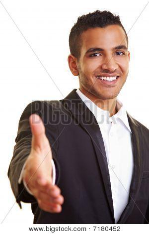 Manager Offering A Handshake