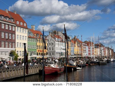 Nyhavn In Copenhagen On A Sunny Afternoon.