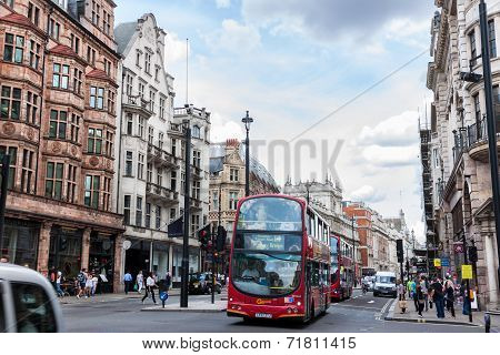 typical Double Decker Bus In The Picadilly St