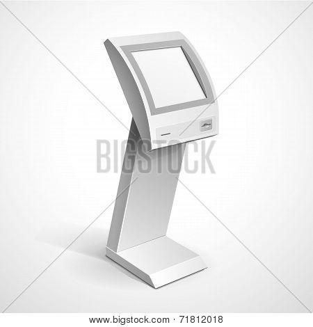 Vector Interactive Information Kiosk Terminal Stand Screen Display Console Infokiosk poster
