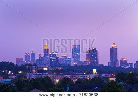 Atlanta Downtown in dusk