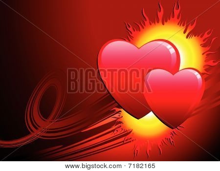 Flame Of Love Valentine's Day Background