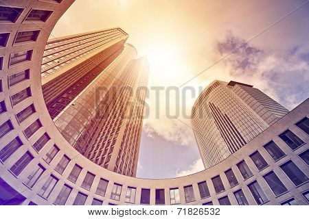 modern office tower in the sun, Frankfurt am Main, Germany