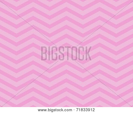 Pink Chevron Zigzag Textured Fabric Pattern Background that is seamless and repeats poster