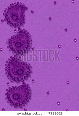 Purple Paisley Graphic