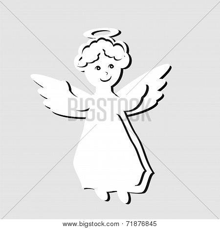 nice little white angel
