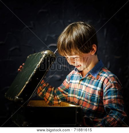 Little Boy Finding Treasure