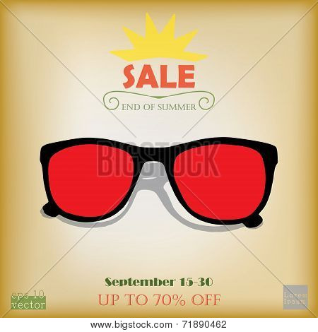 End of summer sale advertising