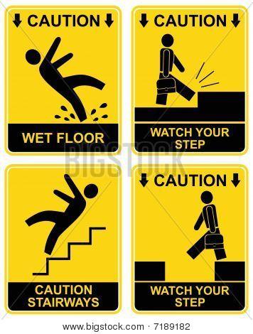Falling Man - caution sign