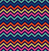Colorful zigzag simpple seamless pattern. Vector illustration poster