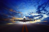 jet plane take off from urban airport runways use for air transportation and business cargo logistic industry poster