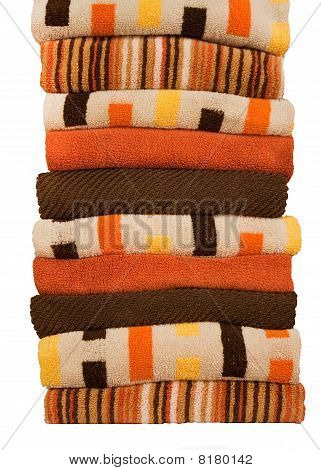 colorful stack of towels