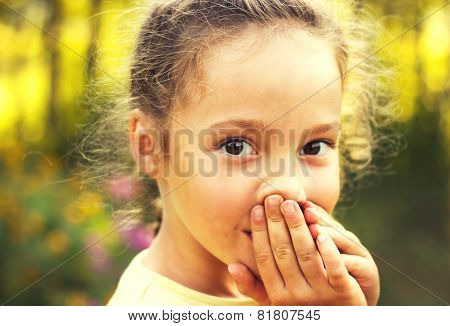 Little Girl Is Shocked And Surprised And So Happy About It. Toned